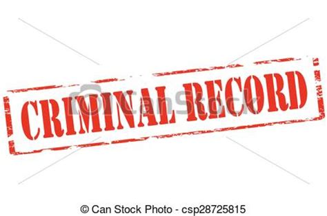 Help Getting A With A Criminal Record Vector Clip Of Criminal Record Rubber St With Text Criminal Record