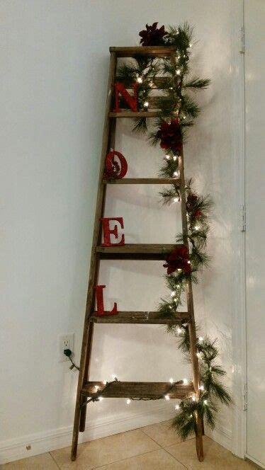 wooden ladderchristmas decorations change decor