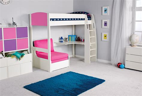 bunk bed sofa and desk stompa uno s high sleeper desk chair bed