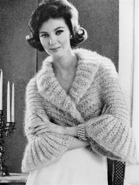 antique pattern library knitting instant pdf pattern 1960s vintage knitting pattern shrug