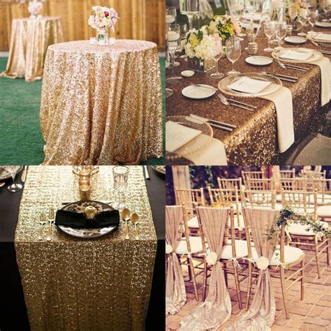 Custom Made Sequined Wedding Accessories For Tables And