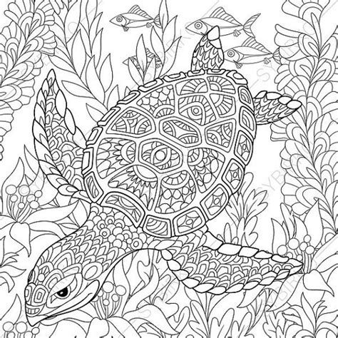 marvelous sea turtles coloring book for adults stress relief coloring book for grown ups books coloring pages turtle zentangle doodle coloring pages