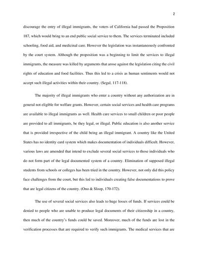 Essay About Immigration by Illegal Immigration Essay Exle Topics And Sles