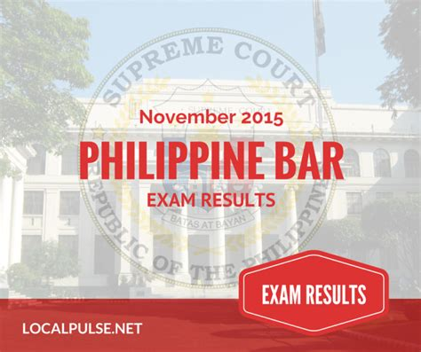 current events in the philippines from november 2015 list of passers november 2015 philippine bar exam results