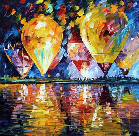festival de painting la plata balloon festival palette knife painting on canvas by