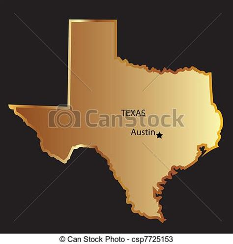 gold in texas map vectors of gold texas state map gold texas state map csp7725153 search clip