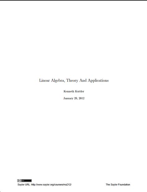 Linear Algebra, Theory And Applications - Open Textbook