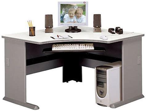 office desk corner insert bush wc14566 corner desk advantage series pewter
