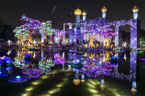 world s largest glow destination quot dubai garden glow quot to