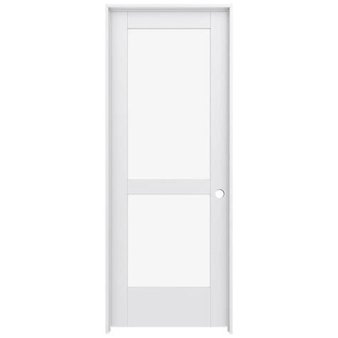 Shop Jeld Wen Moda Primed Solid Core Clear Glass Mdf Pine Prehung Interior Glass Doors