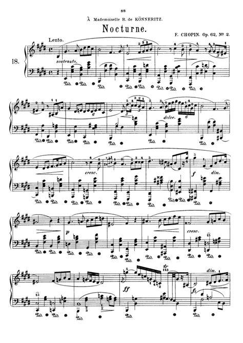 chopin nocturne op 62 no 1 piano tutorial youtube op 62 no 2 free sheet music by chopin pianoshelf