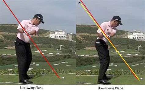 correct golf swing plane proper golf swing plane pictures to pin on pinterest