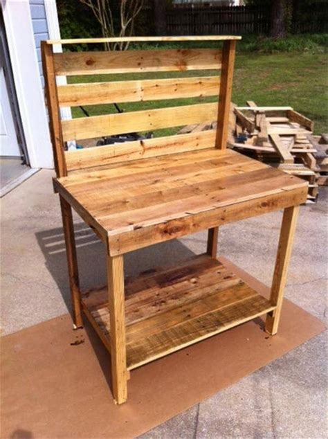 pallet potting bench diy pallet wood potting bench pallet furniture diy