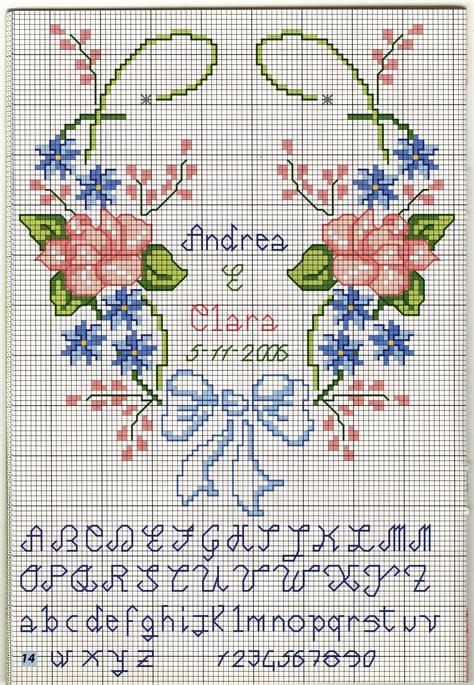cuscini portafedi a punto croce portafedi cuore fiori 2 magiedifilo it punto croce