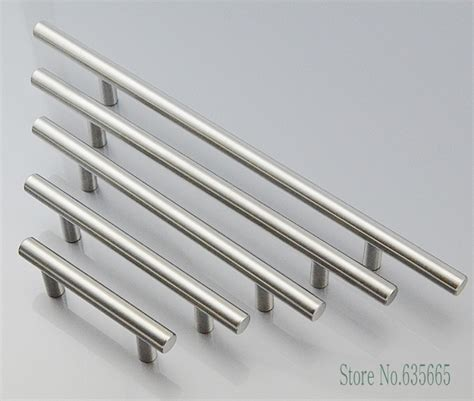 Stainless Steel Hardware For Kitchen Cabinets Aliexpress Buy Modern T Bar Stainless Steel Furniture Hardware Handles Kitchen Cabinets