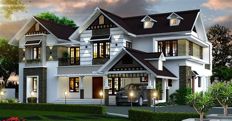 kerala home design february 2016 3974 sq ft double floor contemporary home designs