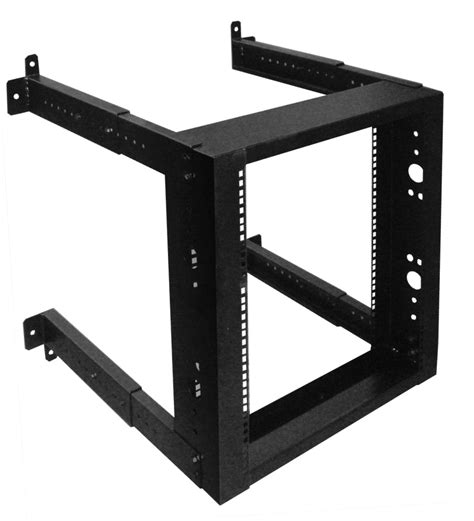 20u Open Wall Mount Frame Rack by Wr1004 20u Wall Mount Rack Adjustable Depth 18 Quot To 30 Quot