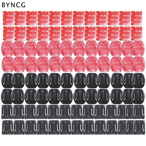 Single Flat Mounts Adhesive For Xiaomi Yi Gopro byncg for gopro accessories set 104 pcs flat curved base