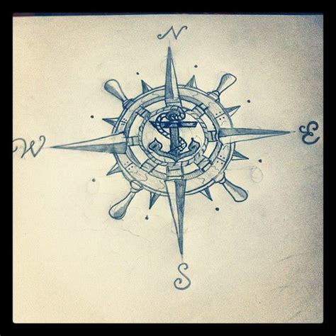compass tattoo pin compass rose wheel anchor talent even though i got my