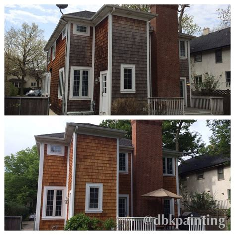 arborcoat colors exterior cedar shake siding before and after using