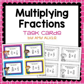 fraction task cards multiplying fractions by alvis tpt
