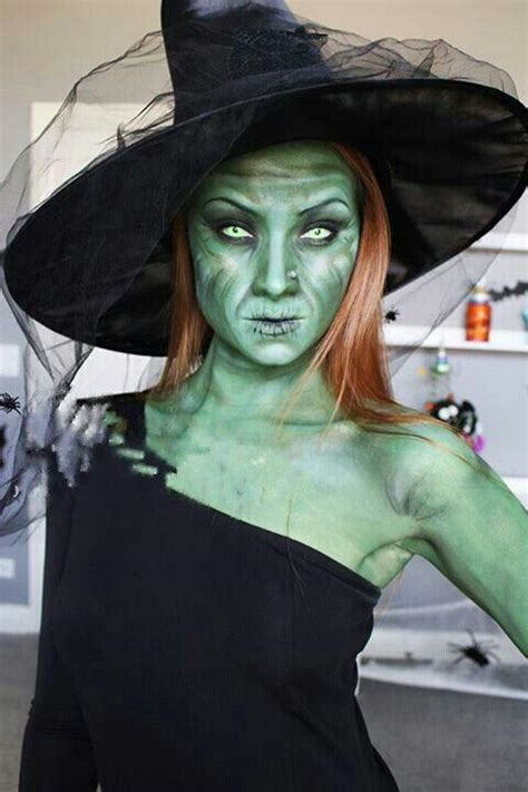 diy witch makeup scary green witch costume makeup costumemodels