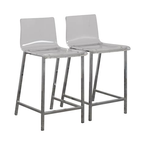 acrylic counter chairs 65 cb2 cb2 clear acrylic bar stools chairs