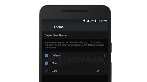 themes telegram android latest update for telegram on android brings support for