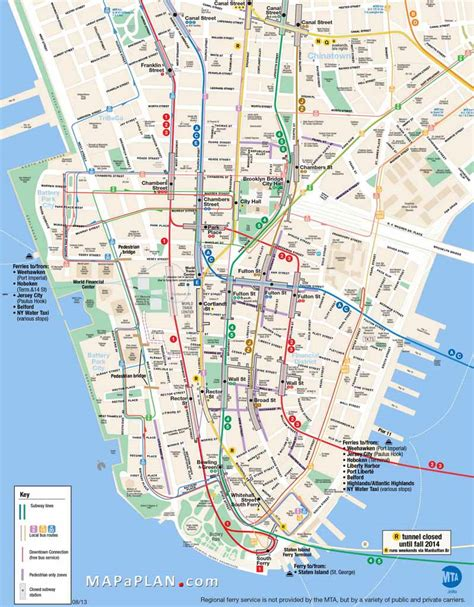 manhattan map of attractions new york new york map manhattan