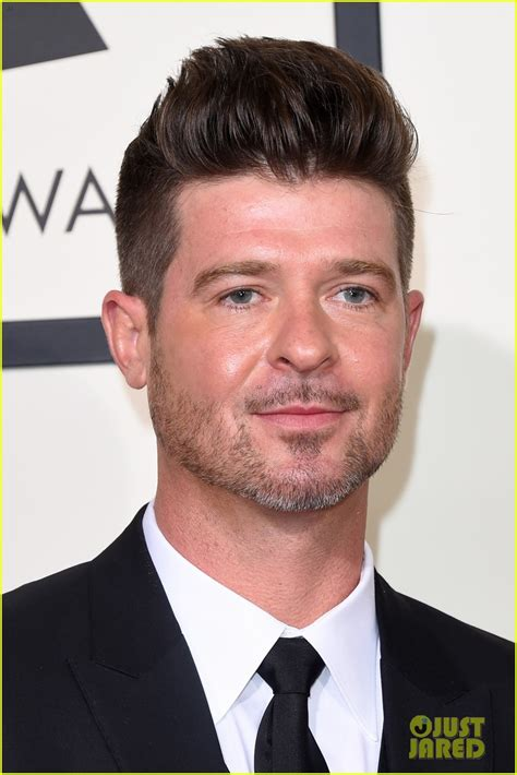 robin hecke robin thicke took some special to the grammys 2016