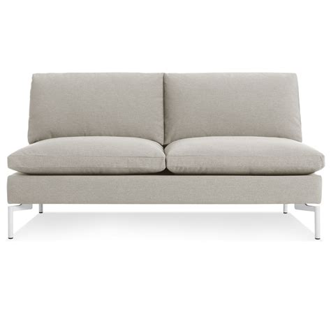 armless loveseats new standard armless sofa armless sofas blu dot