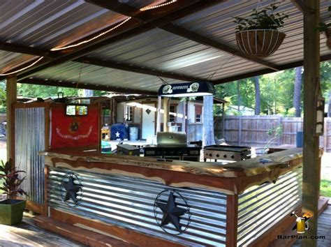 awesome outdoor bar  grill area  protective shed