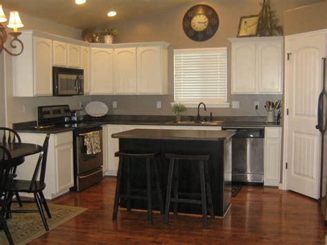 Remodelaholic White Kitchen Cabinets Guest White Kitchen Cabinets With Black Island