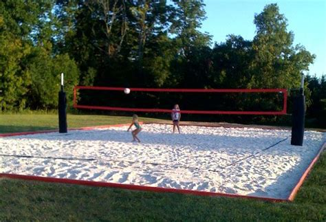 how to build a sand volleyball court in backyard the 25 best ideas about volleyball court dimensions on