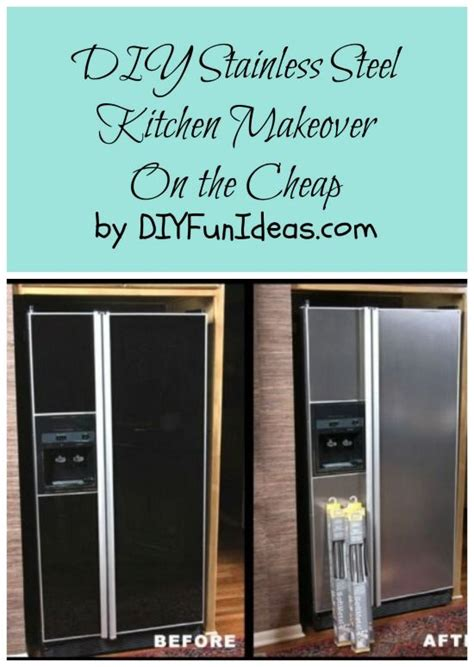 Cheap Kitchen Counter Makeover - 5 diy stainless steel kitchen makeovers on the cheap countertops stainless steel paint and