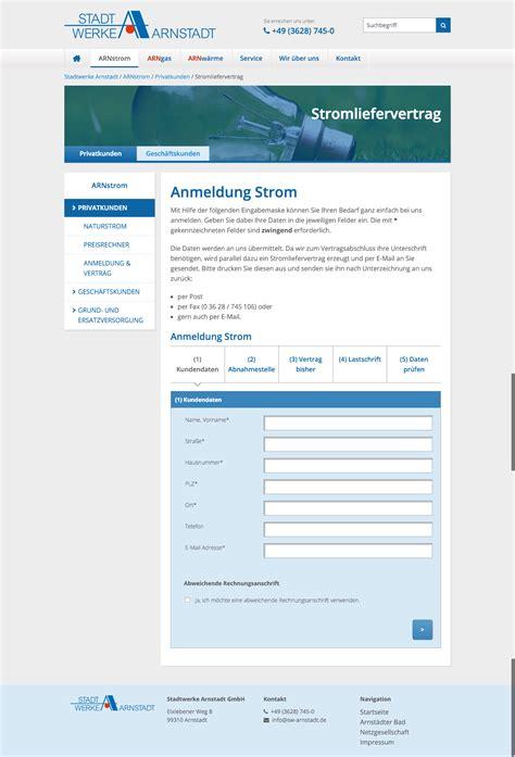 Musterrechnung Schweizstrom Typo3 Cms Website F 252 R Die Stadtwerke Arnstadt 187 Tritum