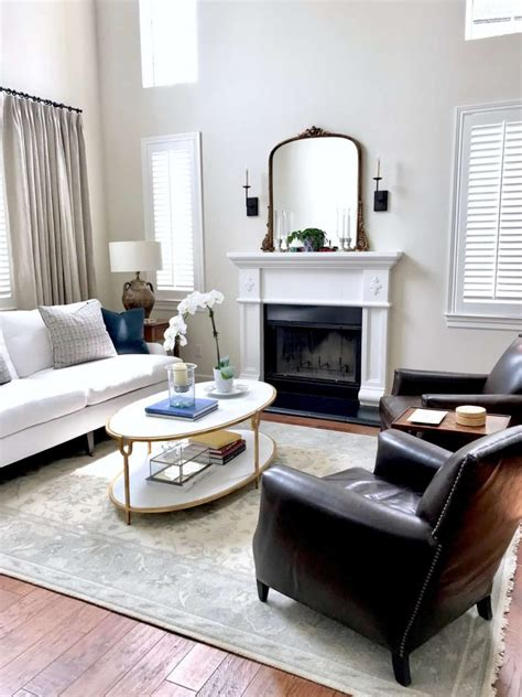 fresh classic living room and dining room before and after