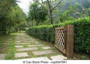 photographies de bois porte jardin chemin