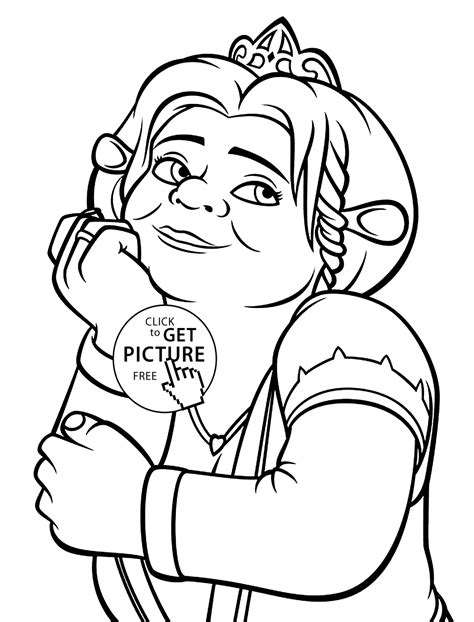 coloring pages of princess fiona princess fiona coloring pages for printable free