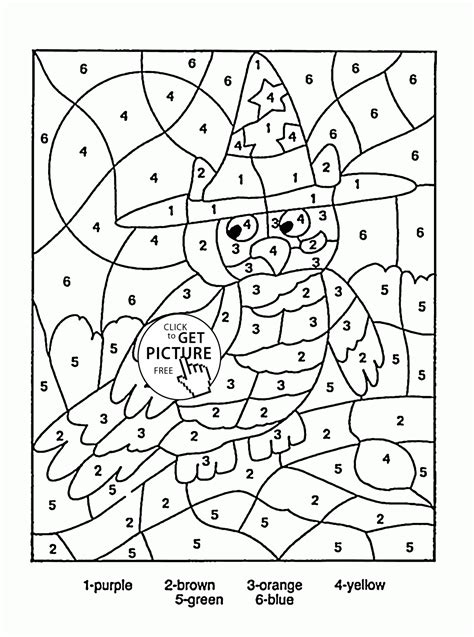 free printable coloring pages educational color by number owl coloring page for kids education