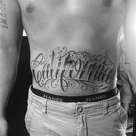 mens stomach tattoos 100 california designs for pacific pride ink