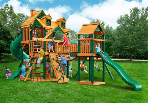 gorilla swing set clearance gorilla malibu treasure trove i playset new 2016 free shipping