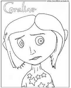 coraline coloring page for cake ideas
