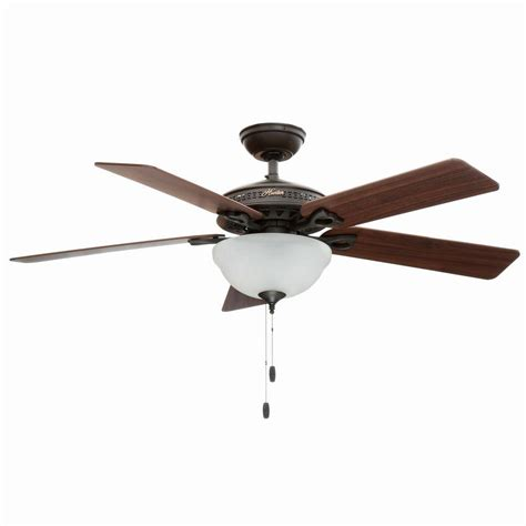 hunter light kits for ceiling fans home depot hunter astoria 52 in indoor new bronze ceiling fan with