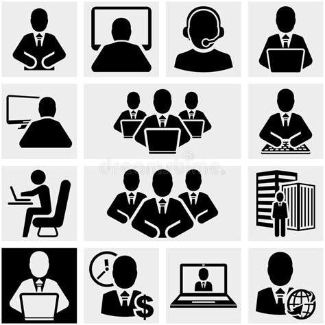 office and business vector icons set on gray royalty free stock images image 33973149 business vector icons set on gray stock vector illustration of consultant laptop 33973151