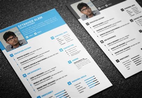 Best Infographic Resume Templates by 100 Best Free Business Cards Resume Templates And More Of