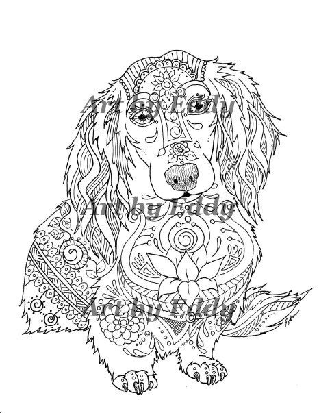 art of dachshund single coloring page happy birthday by art of dachshund single coloring page