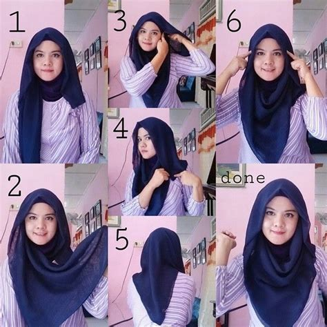 tutorial hijab segi empat gaul best 25 square hijab tutorial ideas on pinterest hijab