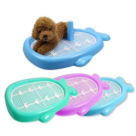 puppy toilet whale style indoor puppy pet house potty pad mat tray toilet ebay