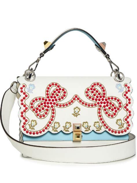 Fendi Kan I Shoulder Bag fendi kan i embroidered leather shoulder bag womens 1093743 536 45 fendi 174 sale